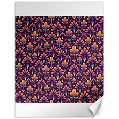 Abstract Background Floral Pattern Canvas 18  X 24