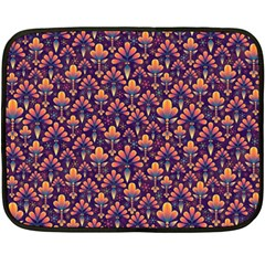 Abstract Background Floral Pattern Double Sided Fleece Blanket (mini)  by Simbadda