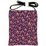 Abstract Background Floral Pattern Shoulder Sling Bags Front