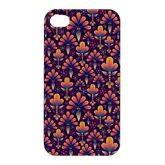 Abstract Background Floral Pattern Apple Iphone 4/4s Hardshell Case by Simbadda