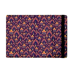 Abstract Background Floral Pattern Apple Ipad Mini Flip Case