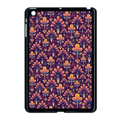 Abstract Background Floral Pattern Apple Ipad Mini Case (black) by Simbadda
