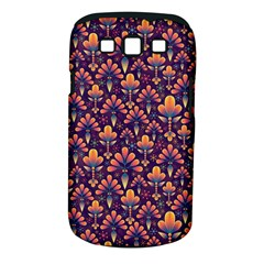 Abstract Background Floral Pattern Samsung Galaxy S Iii Classic Hardshell Case (pc+silicone) by Simbadda