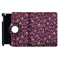 Abstract Background Floral Pattern Apple Ipad 2 Flip 360 Case by Simbadda