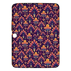 Abstract Background Floral Pattern Samsung Galaxy Tab 3 (10 1 ) P5200 Hardshell Case  by Simbadda