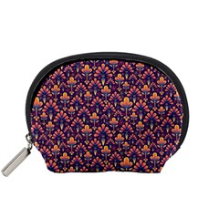 Abstract Background Floral Pattern Accessory Pouches (small)  by Simbadda