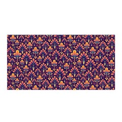 Abstract Background Floral Pattern Satin Wrap by Simbadda