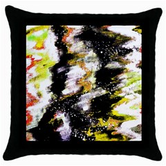 Canvas Acrylic Digital Design Throw Pillow Case (black) by Simbadda