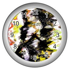 Canvas Acrylic Digital Design Wall Clocks (silver)