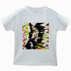 Canvas Acrylic Digital Design Kids White T Shirts by Simbadda