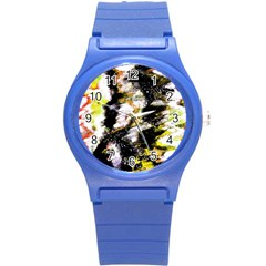 Canvas Acrylic Digital Design Round Plastic Sport Watch (s) by Simbadda