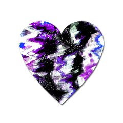 Canvas Acrylic Digital Design Heart Magnet by Simbadda