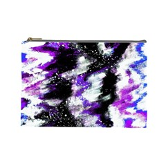 Canvas Acrylic Digital Design Cosmetic Bag (large)  by Simbadda
