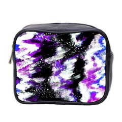 Canvas Acrylic Digital Design Mini Toiletries Bag 2 Side by Simbadda