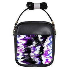 Canvas Acrylic Digital Design Girls Sling Bags by Simbadda