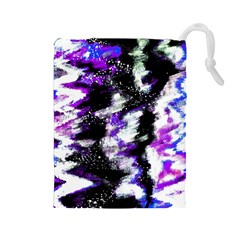 Canvas Acrylic Digital Design Drawstring Pouches (large)