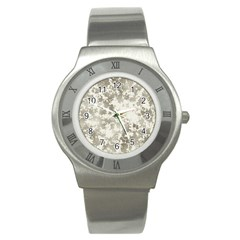 Wall Rock Pattern Structure Dirty Stainless Steel Watch by Simbadda