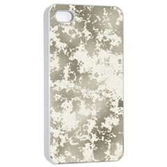 Wall Rock Pattern Structure Dirty Apple Iphone 4/4s Seamless Case (white) by Simbadda