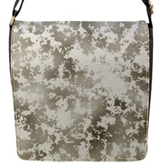 Wall Rock Pattern Structure Dirty Flap Messenger Bag (s) by Simbadda