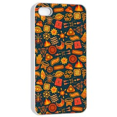 Pattern Background Ethnic Tribal Apple Iphone 4/4s Seamless Case (white) by Simbadda