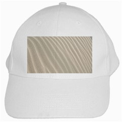 Sand Pattern Wave Texture White Cap by Simbadda
