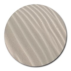 Sand Pattern Wave Texture Round Mousepads by Simbadda