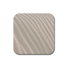 Sand Pattern Wave Texture Rubber Square Coaster (4 Pack)  by Simbadda