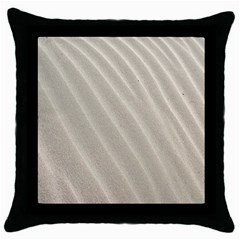 Sand Pattern Wave Texture Throw Pillow Case (black) by Simbadda
