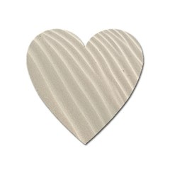 Sand Pattern Wave Texture Heart Magnet by Simbadda