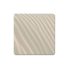 Sand Pattern Wave Texture Square Magnet by Simbadda