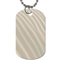 Sand Pattern Wave Texture Dog Tag (one Side) by Simbadda