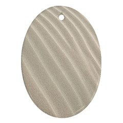 Sand Pattern Wave Texture Oval Ornament (two Sides) by Simbadda