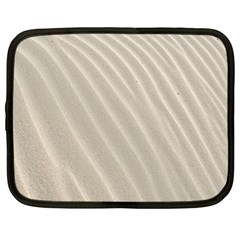 Sand Pattern Wave Texture Netbook Case (large) by Simbadda