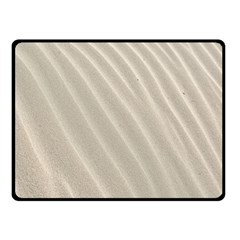 Sand Pattern Wave Texture Fleece Blanket (small) by Simbadda
