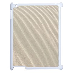 Sand Pattern Wave Texture Apple Ipad 2 Case (white) by Simbadda