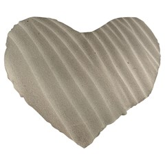 Sand Pattern Wave Texture Large 19  Premium Heart Shape Cushions by Simbadda
