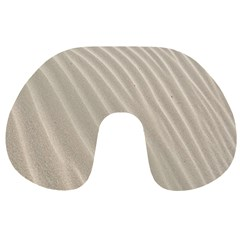 Sand Pattern Wave Texture Travel Neck Pillows by Simbadda
