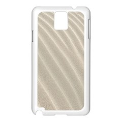 Sand Pattern Wave Texture Samsung Galaxy Note 3 N9005 Case (white) by Simbadda