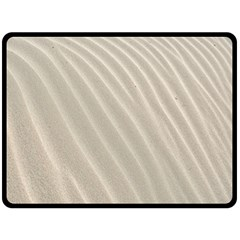 Sand Pattern Wave Texture Double Sided Fleece Blanket (large)  by Simbadda