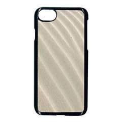 Sand Pattern Wave Texture Apple Iphone 7 Seamless Case (black) by Simbadda
