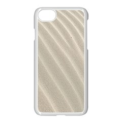 Sand Pattern Wave Texture Apple Iphone 7 Seamless Case (white) by Simbadda