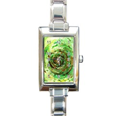 Canvas Acrylic Design Color Rectangle Italian Charm Watch by Simbadda