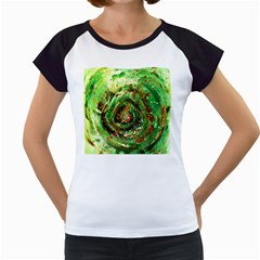 Canvas Acrylic Design Color Women s Cap Sleeve T by Simbadda