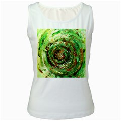 Canvas Acrylic Design Color Women s White Tank Top by Simbadda