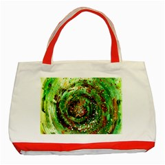 Canvas Acrylic Design Color Classic Tote Bag (red) by Simbadda