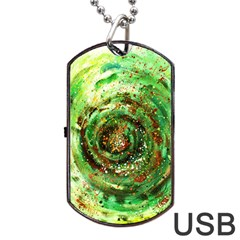 Canvas Acrylic Design Color Dog Tag Usb Flash (one Side) by Simbadda