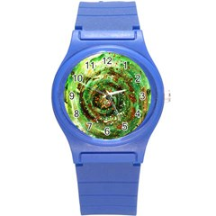 Canvas Acrylic Design Color Round Plastic Sport Watch (s) by Simbadda