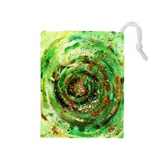 Canvas Acrylic Design Color Drawstring Pouches (medium)  by Simbadda