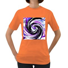 Canvas Acrylic Digital Design Women s Dark T Shirt by Simbadda