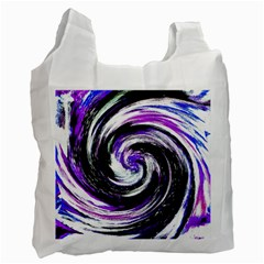 Canvas Acrylic Digital Design Recycle Bag (one Side) by Simbadda